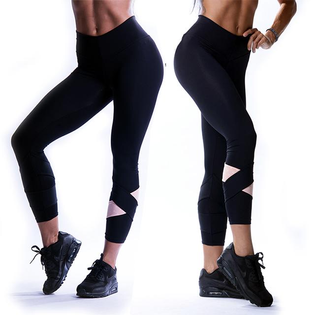 17912fc4b Sportovní a fitness 7/8 legíny 639 ASYMMETRICAL - černá   Sportuj ...