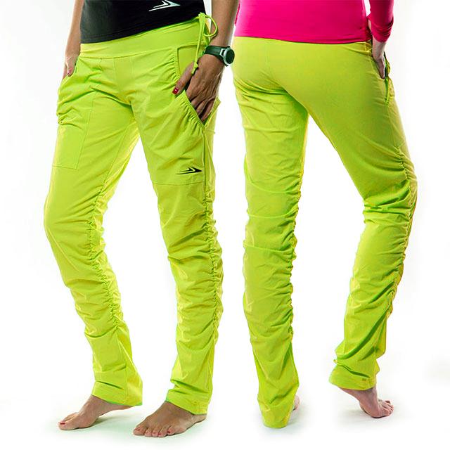 fd0e1561ad6 Dámské sportovní kalhoty s řasením EK923 - citronová
