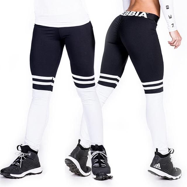 Sportovní a fitness legíny OVER THE KNEE 286 - černá  b8ae855f6b