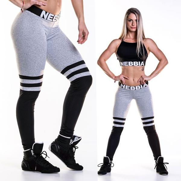 Sportovní a fitness legíny OVER THE KNEE 286 - šedá  e060787317