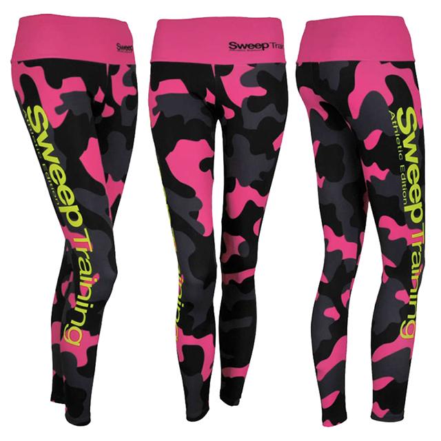 Sportovní a běžecké legíny SWPT020 - růžový maskáč  477255dcf8