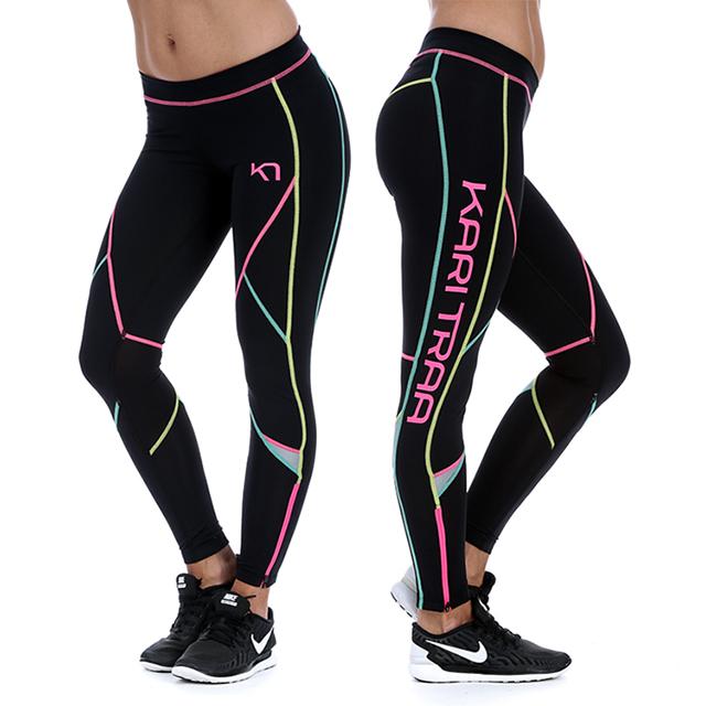 cfbb5023fda Sportovní a běžecké legíny LOUISE TIGHTS - černá   růžová