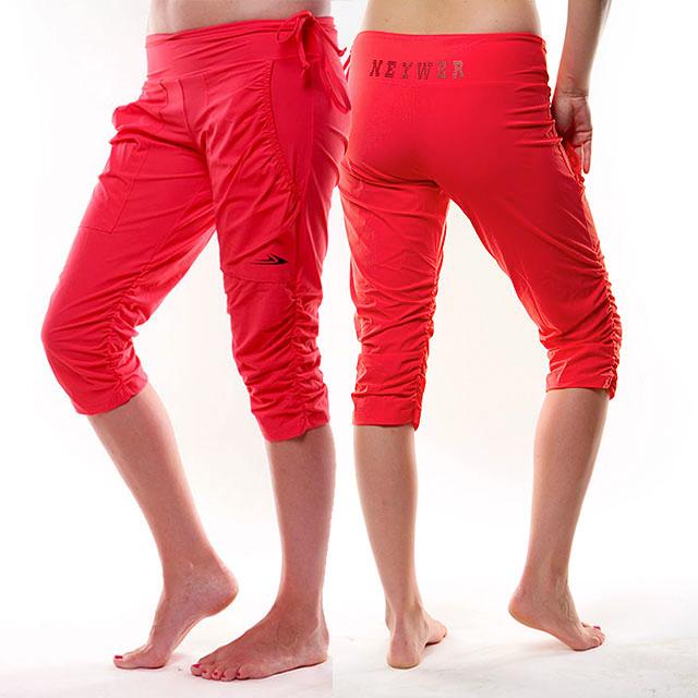 790c5f7ff74 Dámské sportovní krátké kalhoty s řasením EG923 - lososová