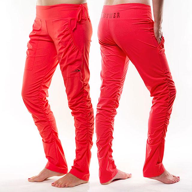 624c77c5c94 Dámské sportovní kalhoty s řasením EK923 - lososová
