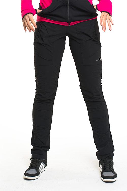 Dámské zateplené kalhoty s řasením ZK923 - černá  87ed43f44e