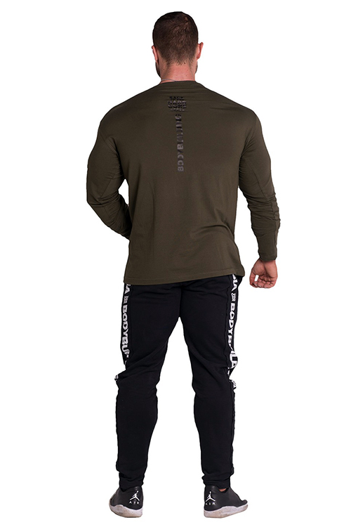 34a0564ebf8d Pánské fitness tričko 341 - khaki
